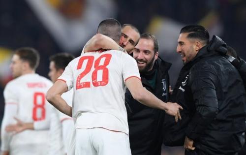 Merih Demiral berperan besar dalam kemenangan Juventus di kandang AS Roma (Foto: Reuters)