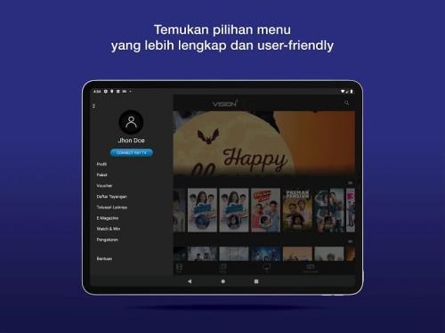 Aplikasi MNC Now kini berganti nama menjadi Vision Plus.