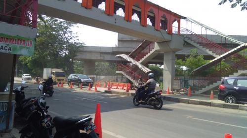 Jalan Daan Mogot Kembali Dibuka Dua Arah (Foto: Okezone/Isty)