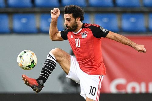 Mohamed Salah saat membela Timnas Mesir