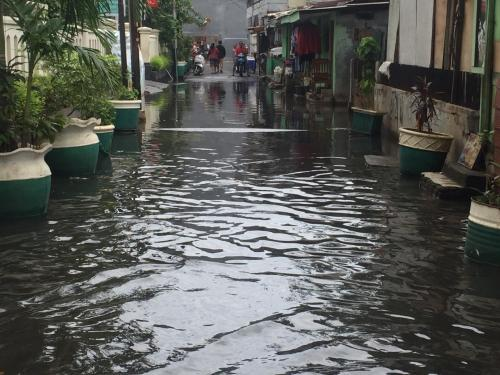 Banjir di Kelurahan Gunung, Kebayoran Baru, Jakarta Selatan, pada Januari 2020. (Foto: Harits Tryan Akhmad/Okezone)
