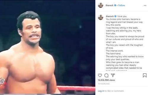 Rocky Johnson. (Foto: Instagram/@therock)
