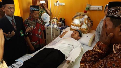 Muhammad Adi Saputra dan Suprapti Jalani Pernikahan di RSUD Wates, Kulonprogo (foto: iNews/Kuntadi)
