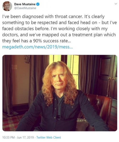 Dave Mustaine. (Foto: Twitter/@DaveMustaine)