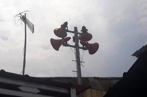 Pengeras suara Toa di Bidara Cina, Jakarta Timur. (Foto: Okto Rizki Alpino/Sindonews)