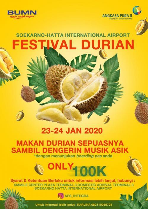 Kebetulan, sepanjang Januari hingga Februari nanti memang sedang musim durian.