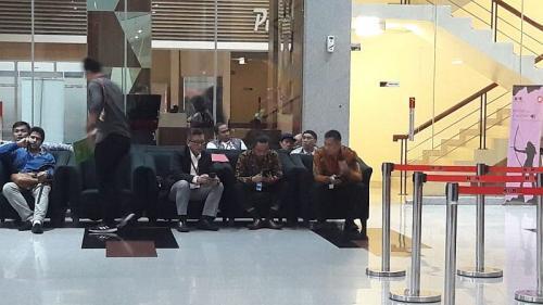 Sekjen PDIP Hasto Kristiyanto di KPK (foto: Okezone/Arie DS)
