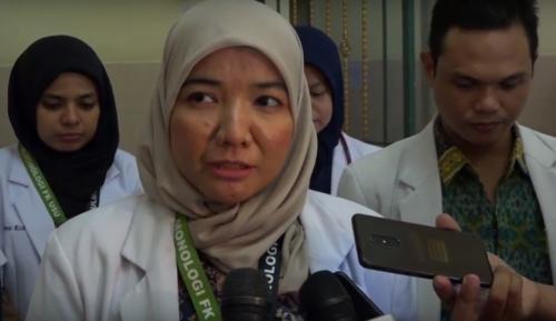 Koordinator Tim Dokter Penanganan Virus Korona, RSUP Adam Malik Medan, Ade Rahmaini (Foto : iNews TV/Ahmad Ridwan Nasution)