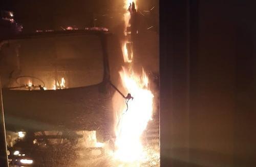 Kebakaran Pabrik Gas PT Semar Gemilang (SG) di wilayah Sukawangi, Kabupaten Bekasi, Jawa Barat, Terbakar (foto: Dinas Pemadam Kebakaran Kabupaten Bekasi)