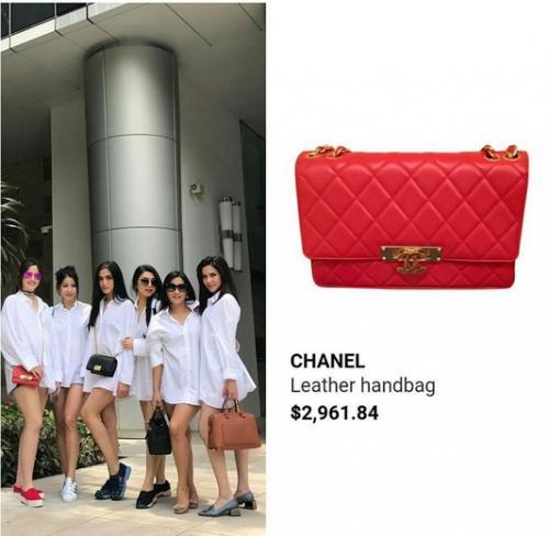 Berwarna merah, tas mini pemilik nama Ramadhania Bakrie ini dibanderol dengan sekira Rp38,5 jutaan.