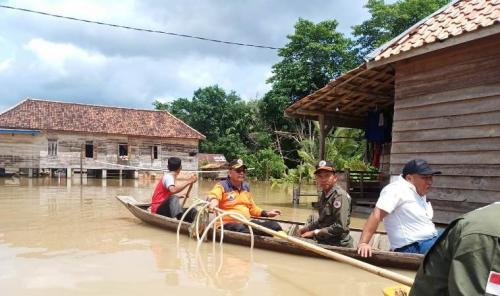 Banjir di Penukal Abab Lematang Ilir, Sumsel. (Foto : BPBD Sumsel)