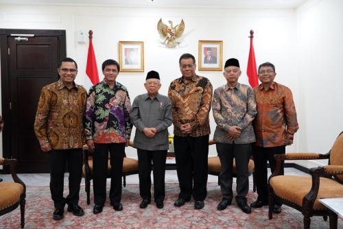 Wapres Ma'ruf Amin terima kunjungan rektor UI. (Foto : Setwapres)
