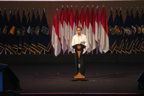 Presiden Jokowi saat di acara