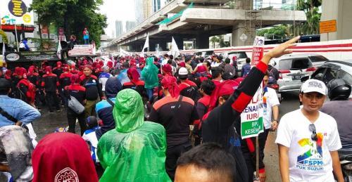 Demo Buruh di Kemenkes