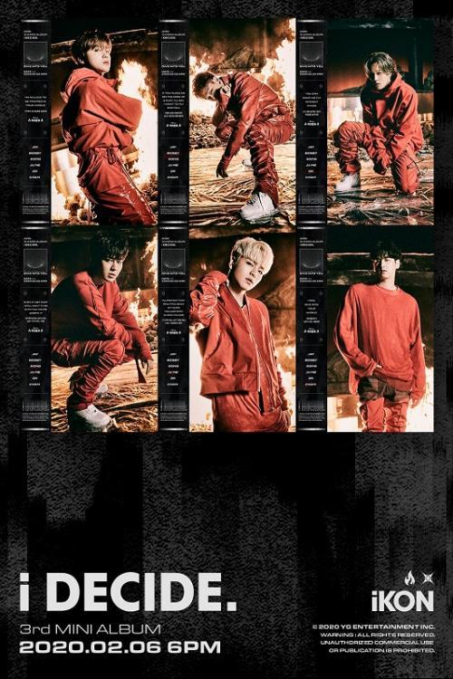 Mini Album Terbaru iKON, 'i DECIDE' resmi dirilis pada 6 Februari 2020. (Foto: YG Entertainment)