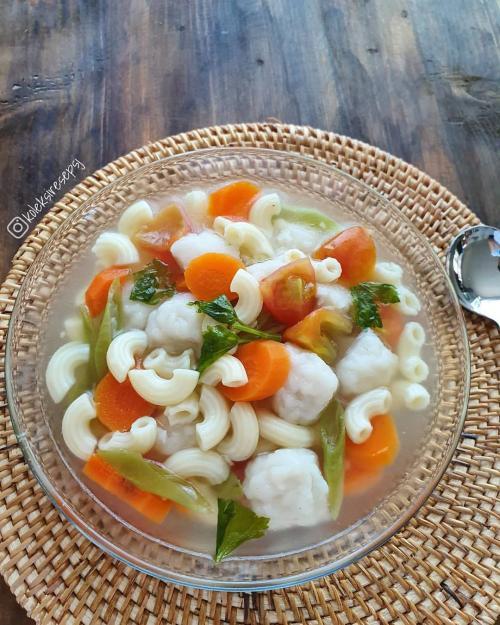 Sup Makaroni Bakso Ikan