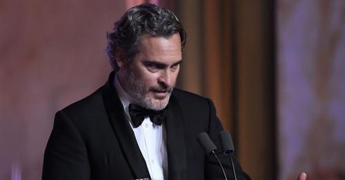 Joaquin Phoenix dalam pidato kemenangannya di Oscar 2020. (Foto: IST)