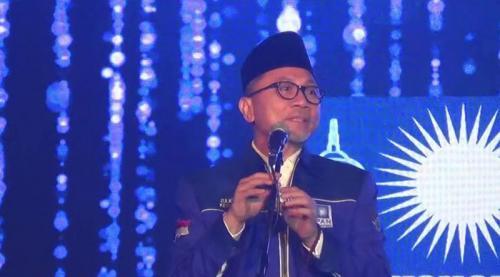 Ketum PAN Zulkifli Hasan Usai Kongres (foto: iNews)