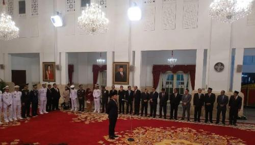 Kabakamla saat dilantik Jokowi