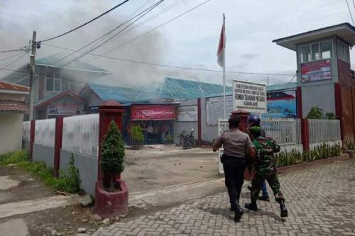 Kerusuhan Rutan Kabanjahe. (Foto : Sindonews)