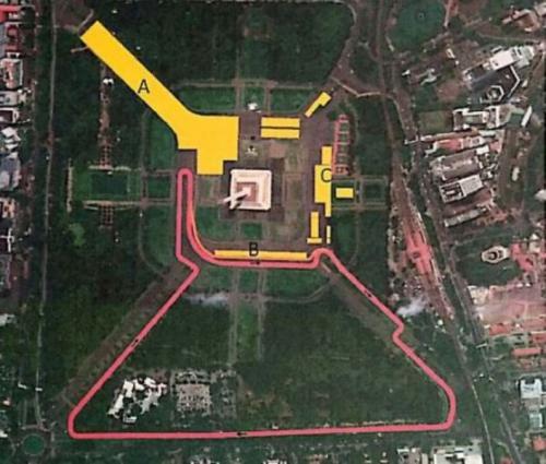 Denah Sirkuit Formula E rancangan Hermann Tilke (Foto: Pemprov DKI Jakarta)