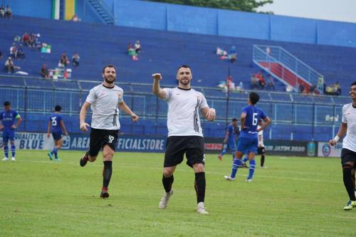 Marko Simic selebrasi (Foto: Media Persija)