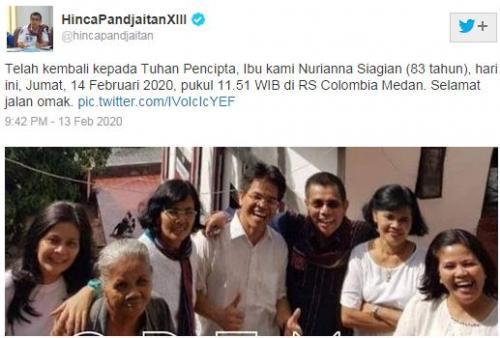 Twit Hinca Pandjaitan