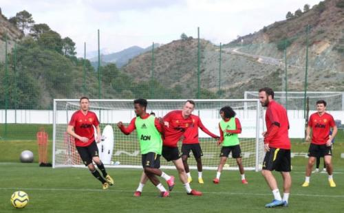 Skuad Man United berlatih di Marbella, Spanyol (Foto: Man United)