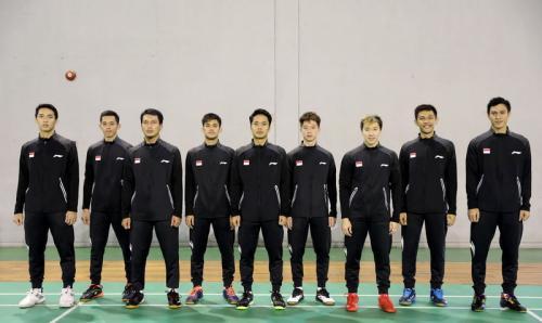 Para pemain putra Indonesia