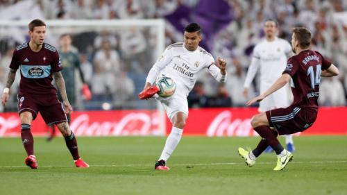 Aksi Casemiro saat membela Real Madrid