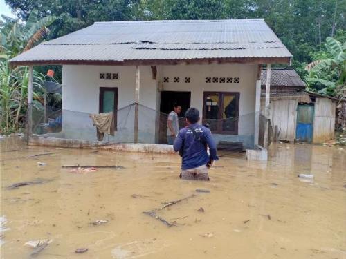 Banjir di Kabupaten Penajam Paser Utara. (Foto BNPB)