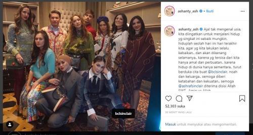 Kalimat bijak Ashanty di instagram