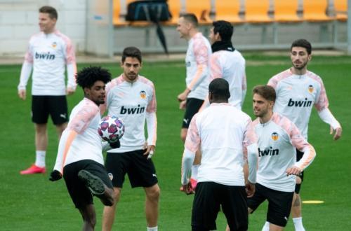 Skuad Valencia berlatih jelang laga vs Atalanta (Foto: UEFA)