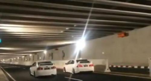 Balapan mobil diduga terjadi di Underpass Bandara Internasional Yogyakarta (foto ist)