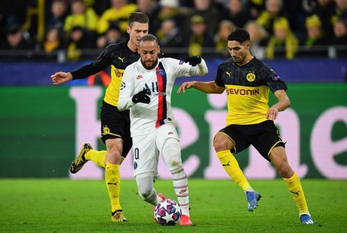 Neymar saat hadapi Dortmund