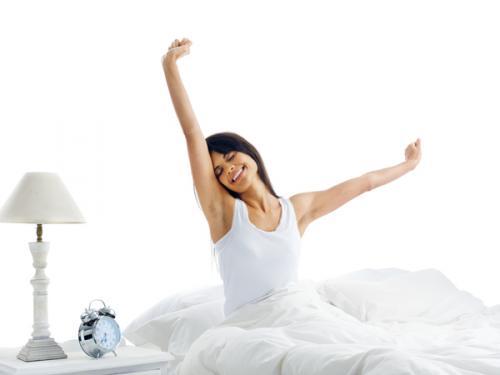 Ilustrasi bangun tidur di pagi hari.