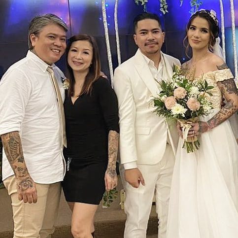 Sheila Marcia menikah. (Foto: Instagram/@bang_hank_key)