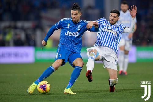 Cristiano Ronaldo vs SPAL (Foto: Twitter/@juventusfcen)