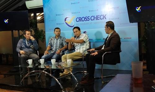 Plt Juru Bicara KPK, Ali Fikri, dalam diskusi di kawasan Wahid Hasyim, Jakarta, Minggu (23/2/2020). (Foto : Okezone.com/Arie Dwi Satrio)