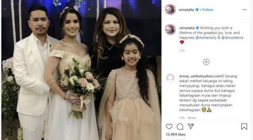 Pernikahan Sheila Marcia di instagram