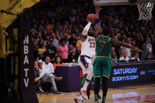 LA Lakers vs Boston Celtics. Foto: Twitter LA Lakers