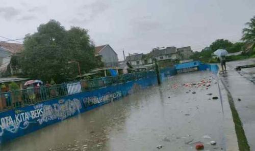Banjir Underpass Bekasi (foto: Ist)
