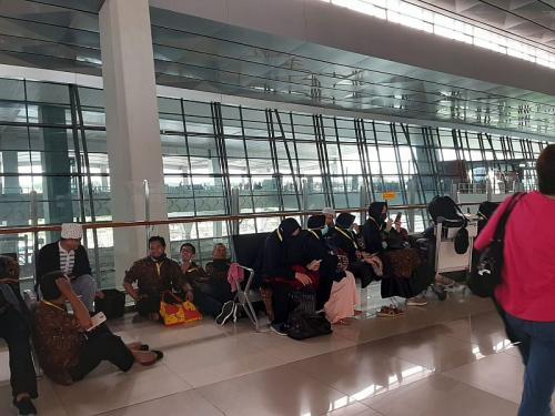 Jamaah umrah di Bandara Soetta
