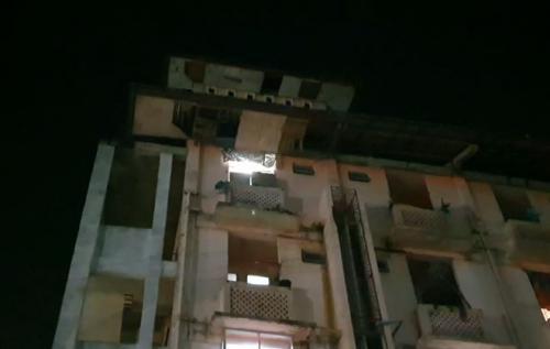 Lokasi tembok di tangga yang tidak tertutup (iNews-Yudha Bahar)