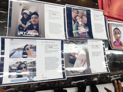 Screenshoot medsos artis yang terima endorse pelaku carding (foto: Okezone/Syaiful Islam)