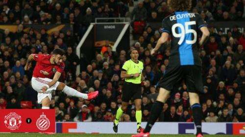 Suasana laga Man United vs Club Brugge