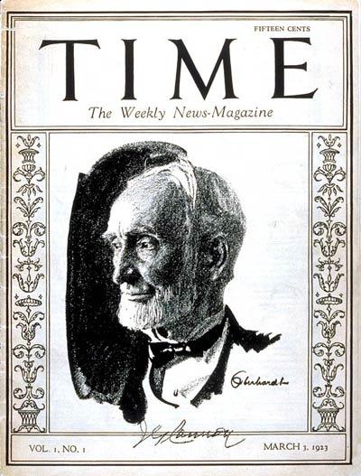 Majalah Time Edisi Pertama (foto: Wikipedia)