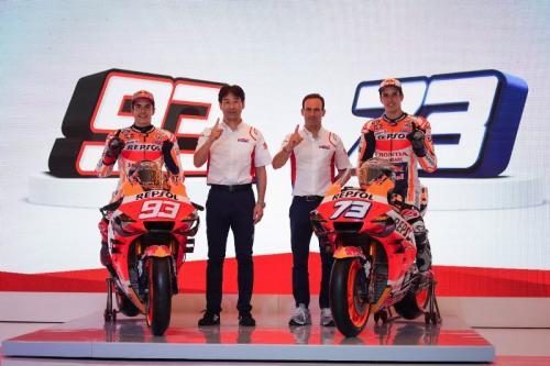 Skuad Repsol Honda pada MotoGP 2020 (Foto: Okezone/Arif Julianto)
