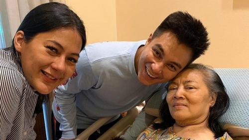 Baim Wong dan ibunda.