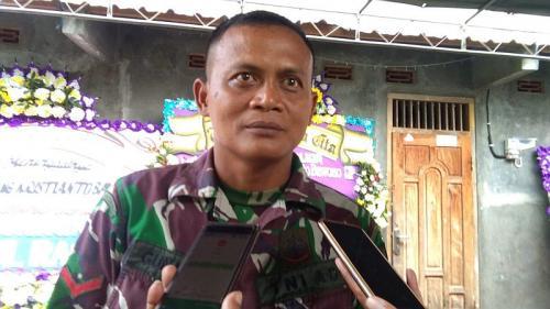 Kopral Dua Gunanto, Mantan Ajudan Dandim 1011 Kuala Kapuas, Letkol Bambang Kristianto Bawono (foto: Okezone/Bramantyo)